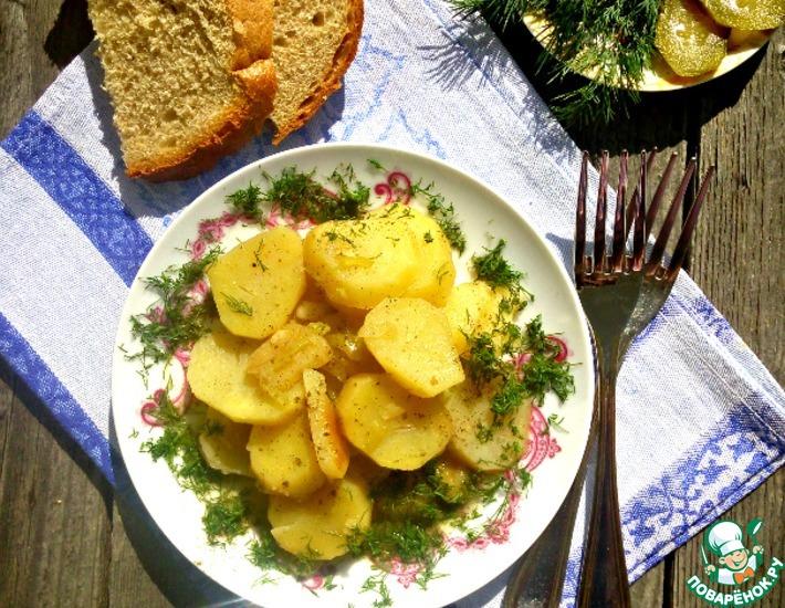 Рецепт: Картофель, тушенный с перцем