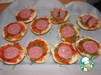 Мини пиццы на булочках ингредиенты