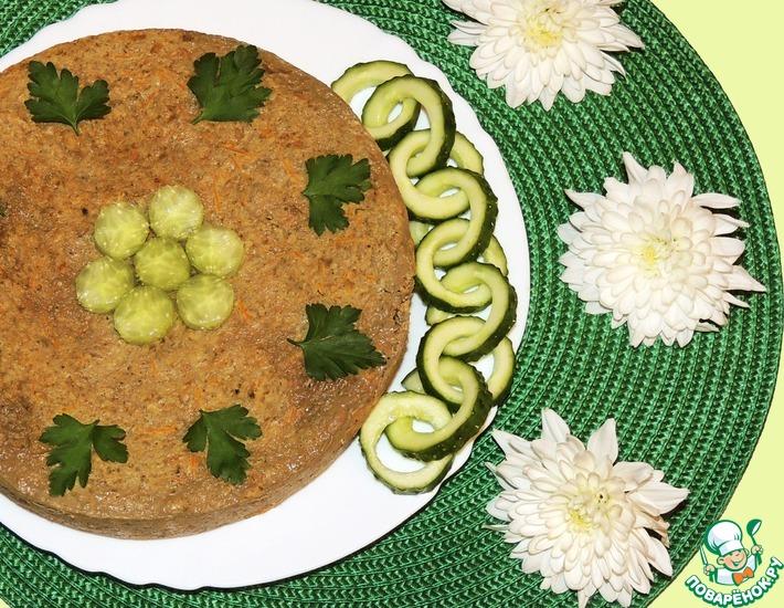 Рецепт: Печеночное суфле Нежность с гречневыми хлопьями