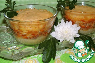 Рецепт: Запеканка Сытая семья с рисовыми хлопьями