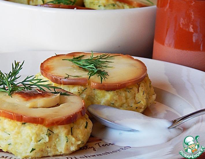 Рецепт: Пшенно-сырные биточки с зеленью