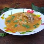 Томатный суп с плавленым сыром