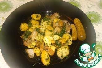 Рецепт: Картофель По-мужски в СВЧ