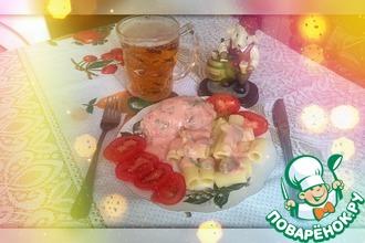 Рецепт: Розовый соус для котлет Нежность
