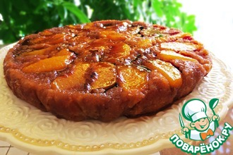 Рецепт: Пирог Карамель-персик