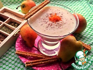A delicious snack, a cocktail together, for example, with a straw!