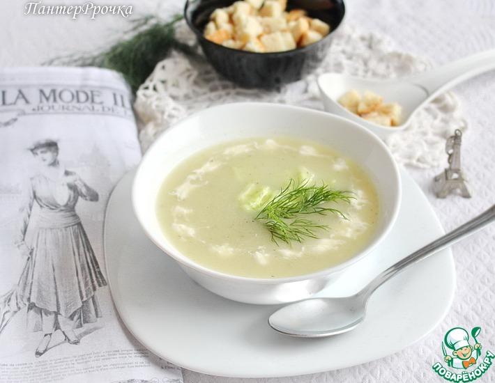 Рецепт: Крем-суп из огурцов