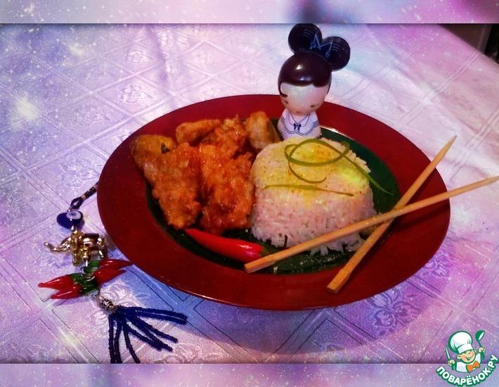 Рецепт: Горячее из курицы Счастье китайца