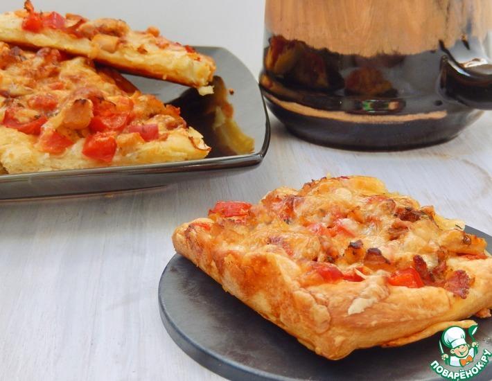 Рецепт: Горячие бутерброды на слоеном тесте