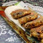 Закусочные сырники с баклажаном