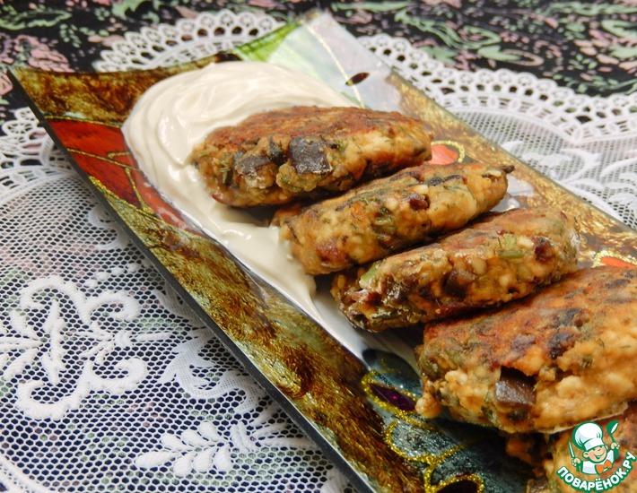 Рецепт: Закусочные сырники с баклажаном