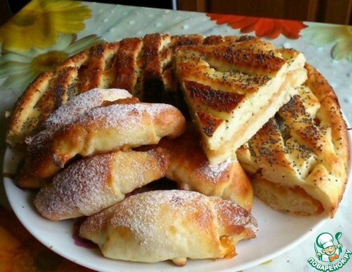 Рецепт: Пирог с яблоками из творожного теста