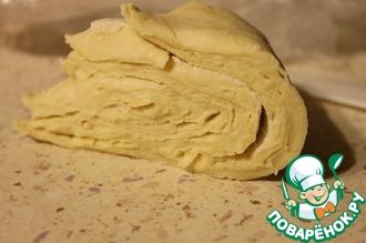 Рецепт: Слоеное тесто для торта Наполеон