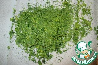 Рецепт: Зелень из микроволновки на всю зиму