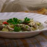 Легкий куриный суп мгновенного приготовления