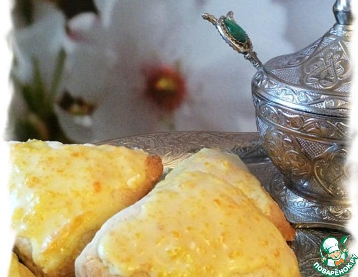 Рецепт: Цитрусовые сконы с апельсиновой глазурью