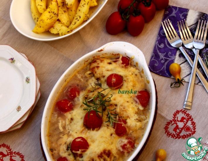 Рецепт: Куриные грудки с картофелем по-провансальски