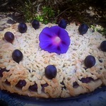 Виноградный тертый пирог