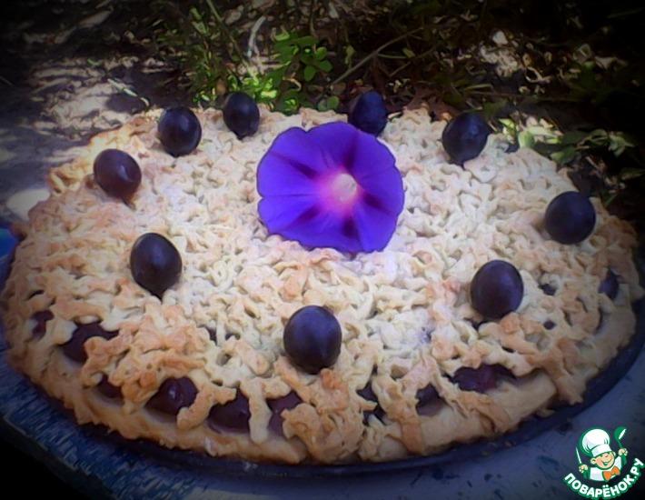 Рецепт: Виноградный тертый пирог