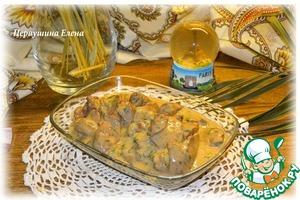 Рецепт Куриная печень по-французски