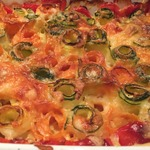 Запечённые овощи с сыром и чесноком