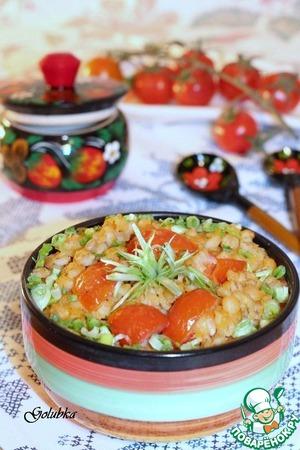 Костромская каша с помидорами черри
