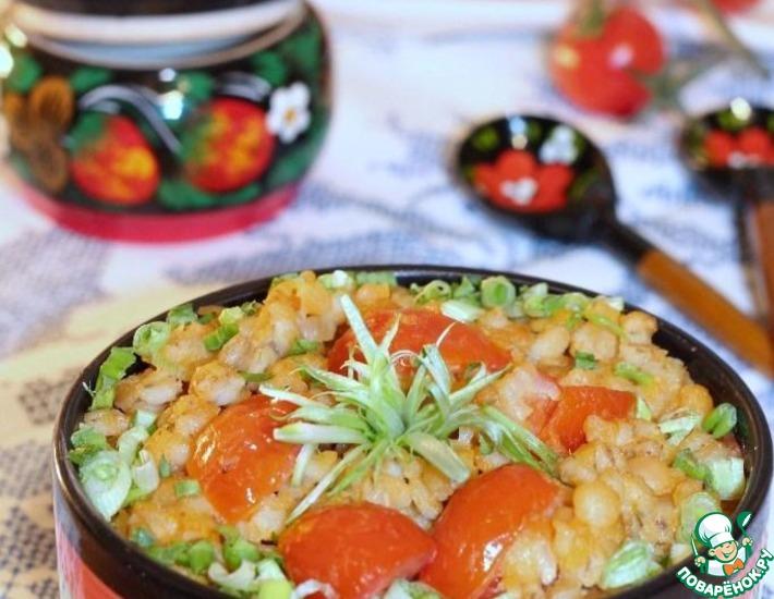 Рецепт: Костромская каша с помидорами черри
