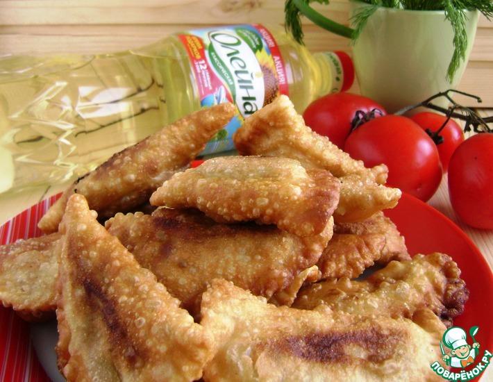 Рецепт: Чебуреки с фасолью