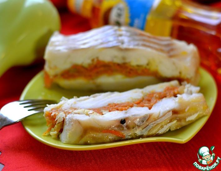 Рецепт: Треска, фаршированная морковью
