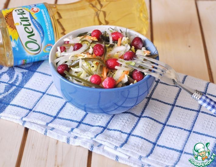 Рецепт: Салат из двух видов капусты