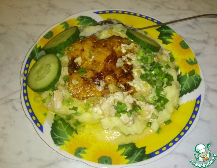 Рецепт: Филе куриной грудки с мускатным орехом
