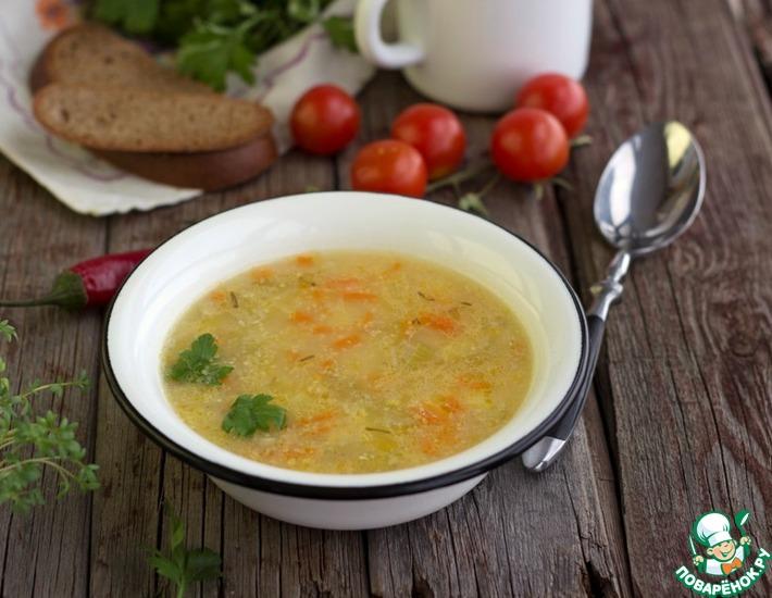 Рецепт: Картофельный суп с кукурузной крупой