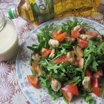 Яблочный постный майонез и салат с мидиями
