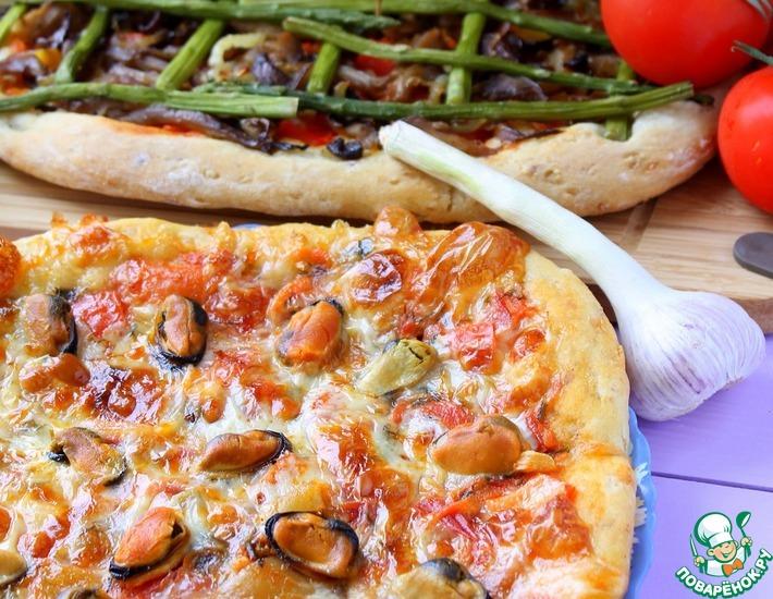 Рецепт: Пицца Две стихии