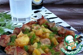 Рецепт: Шашлык, вымоченный в березовом соке