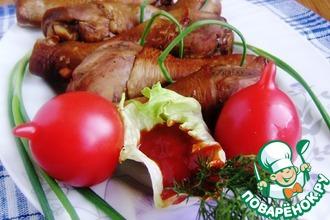 Рецепт: Куриные голени с ароматом копчения