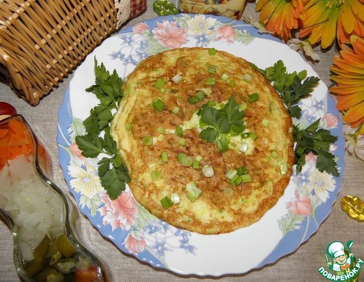 Рецепт: Омлет с кабачком Мгновенный завтрак