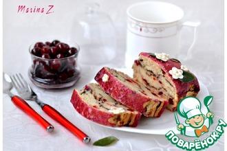 Рецепт: Постный кекс с вяленой вишней