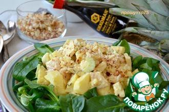 Рецепт: Куриный салат с ананасом