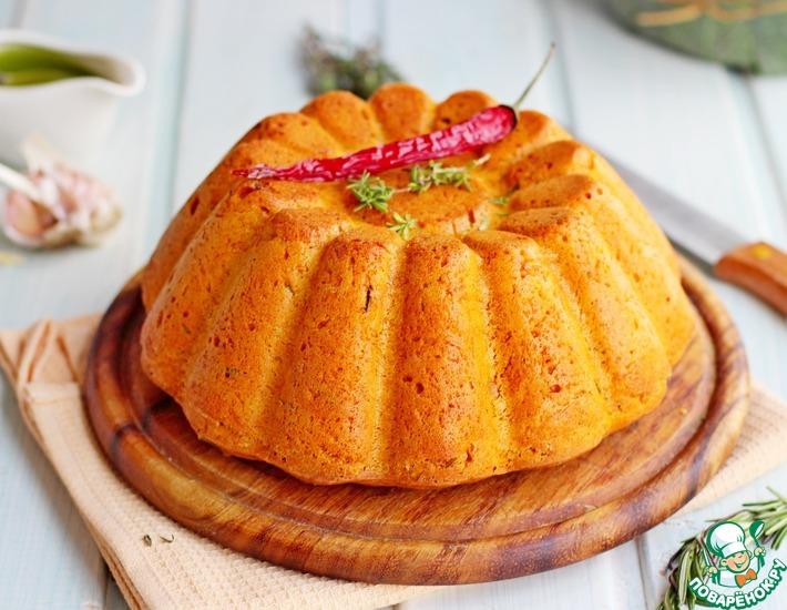 Рецепт: Тыквенный хлеб с чесноком и розмарином