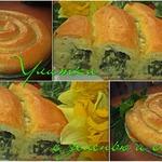 Пирог Улитка с зеленью и сыром