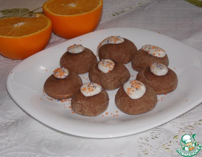 Рецепт: Постное шоколадно-апельсиновое печенье