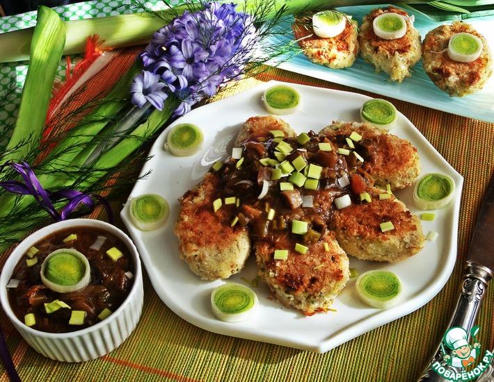 Рецепт: Картофельные котлеты под грибным соусом