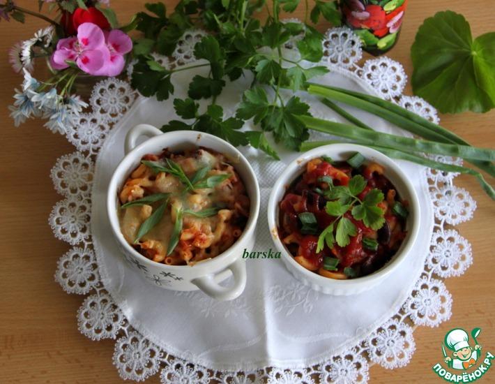Рецепт: Запеканки из капусты, пасты и фасоли
