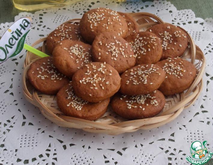 Рецепт: Печенье Томатно-шоколадное