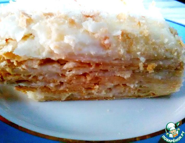 Рецепт: Торт Наполеон для любимой мамы