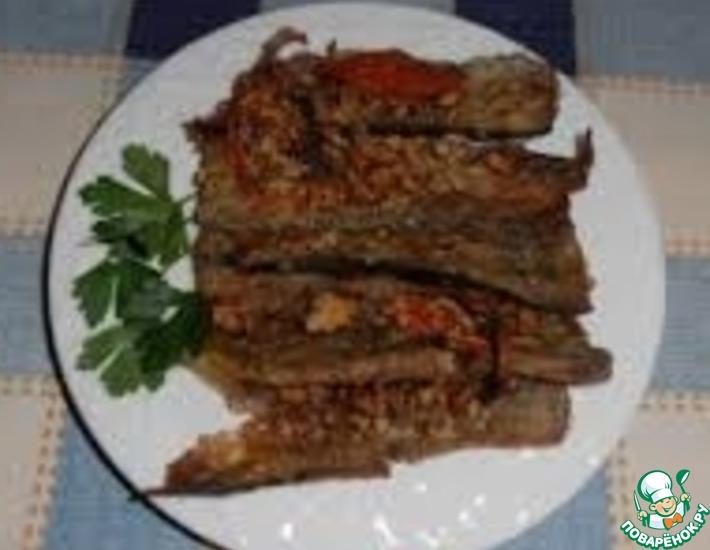 Рецепт: Баклажаны с грецкими орехами