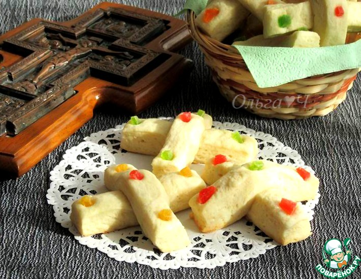 Рецепт: Печенье Средокрестные кресты