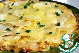 Рецепт: Картофельно-луковый пирог