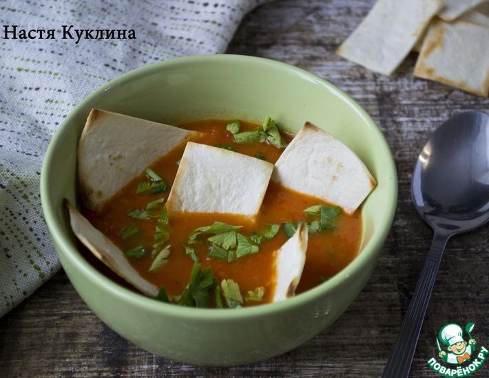 Рецепт: Быстрый мексиканский суп с чипсами